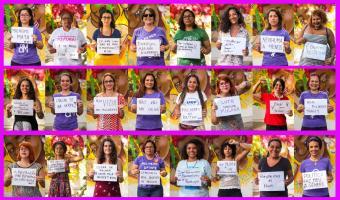 Fotos das mulheres da UFRPE que participaram da campanha